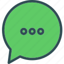 chat, conversation, messagebubble icon