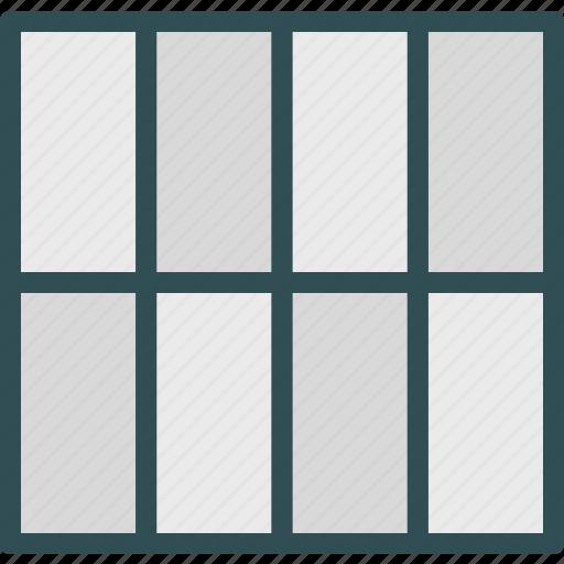 big, grid, interface, layout, web icon