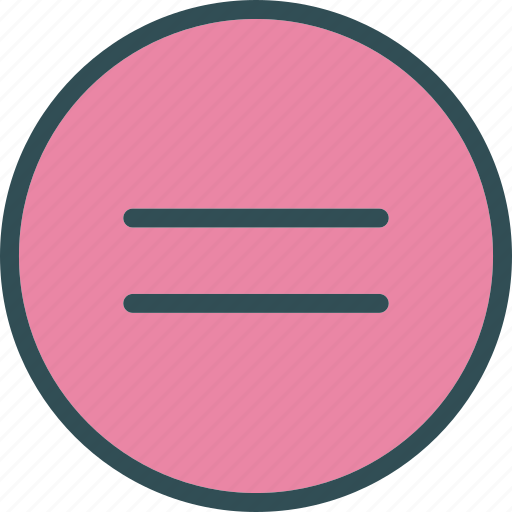 circle, equal, sign icon
