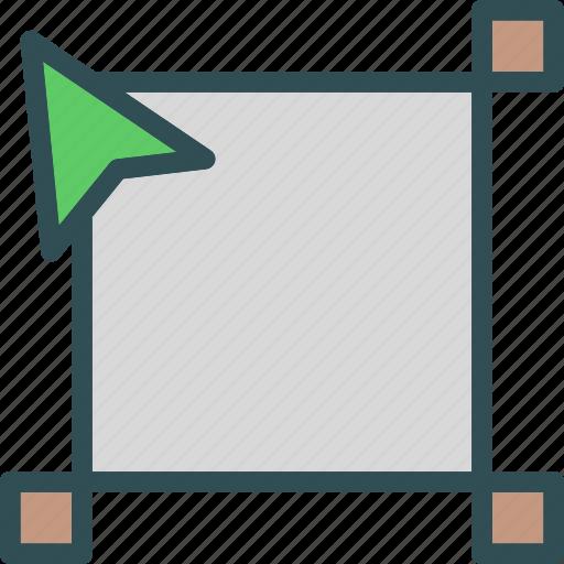divide, drag, edit, finder, path, point icon
