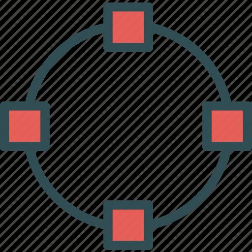 circle, path, point icon