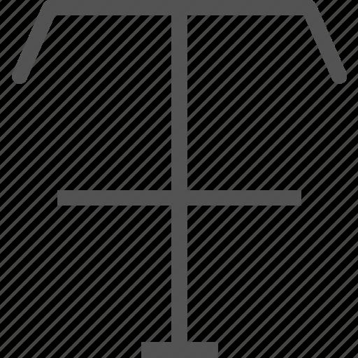 crossline, divide, path, text, write icon