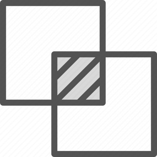 finder, intersection, layers, merge, path icon