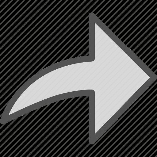 arrow, direction, forward icon