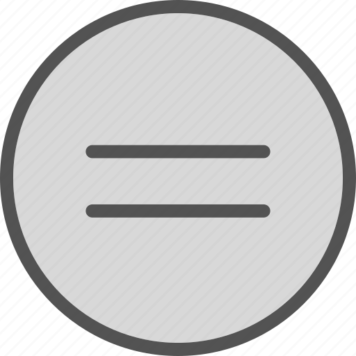 circle, equal, sign icon