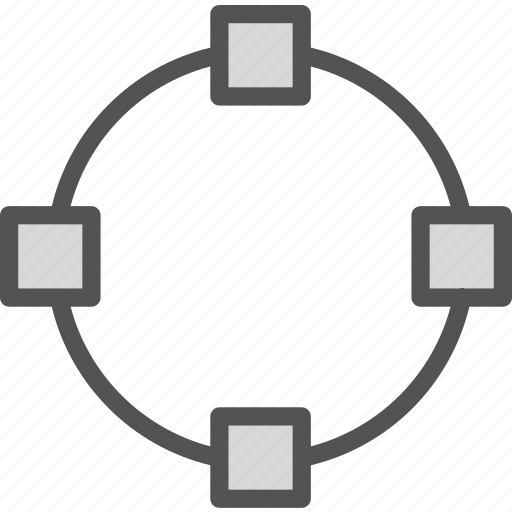 circle, divide, point icon