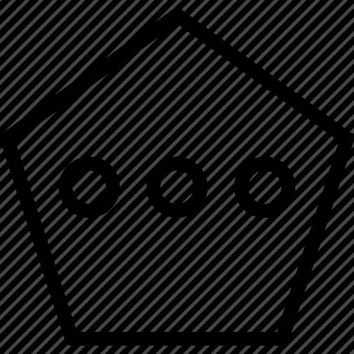 chat, conversation, messagepoligon icon