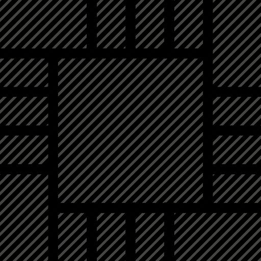 chip, cut, processor icon