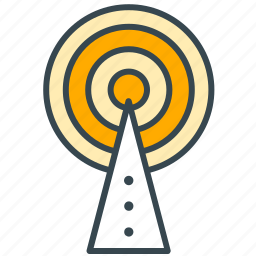 broadcast, interface, network, signal, technology icon