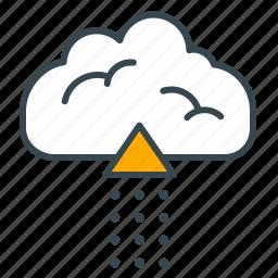 arrow, cloud, device, interface, pointer, storage icon