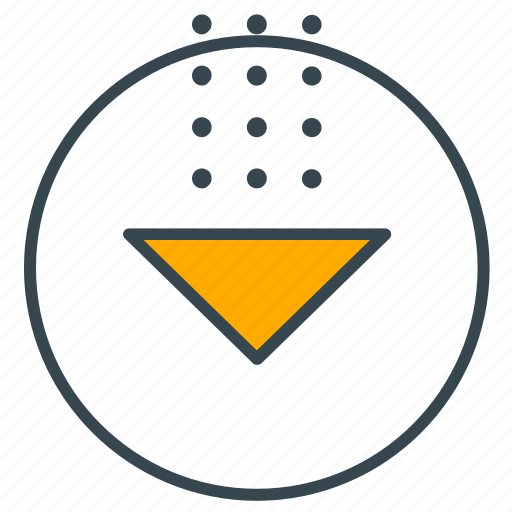arrow, download, interface, internet, pointer icon