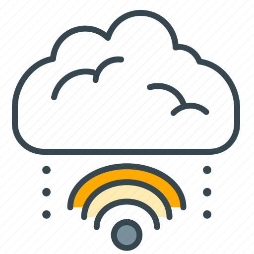 cloud, interface, internet, mobility, wifi icon