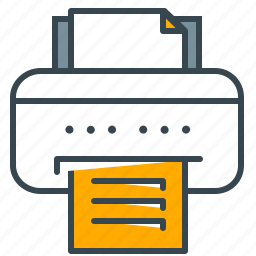 device, interface, print, printer, technology icon