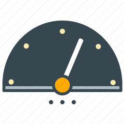 control, interface, speed, speedometer, test icon