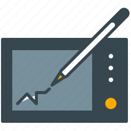 device, draw, interface, pen, tablet, technology icon