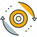 arrows, circle, interface, refresh, update icon
