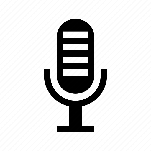 interface, mic, micraphone, recording, speaker, speech icon