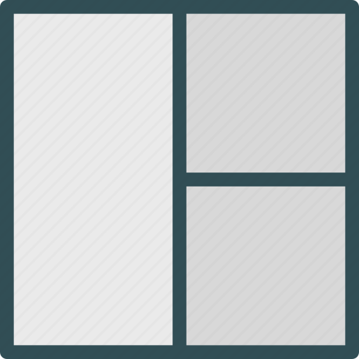 grid, layout, twocolumn icon