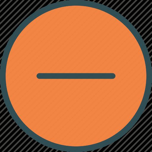 calculator, erase, minus, sign icon