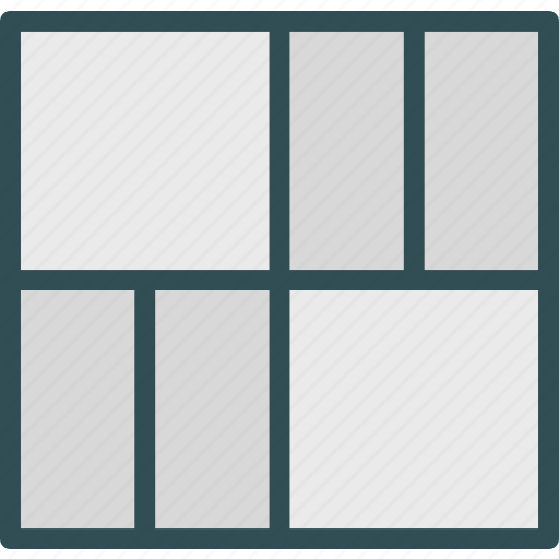 interface, layout, stylishgrid, table, web icon