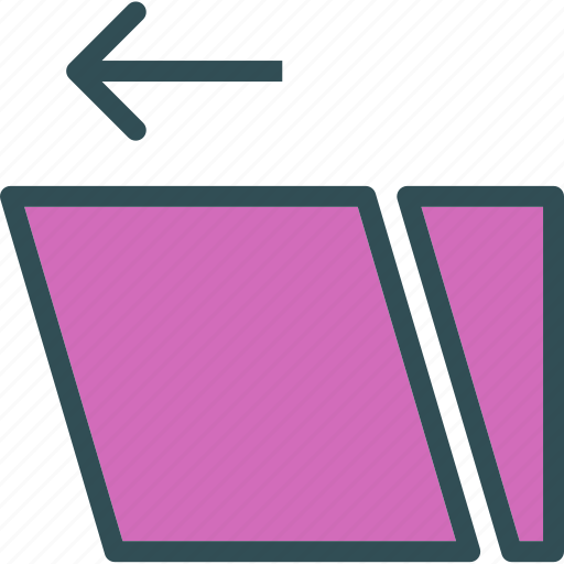 arrange, layers, left, reshape, scale, swipe, transform icon