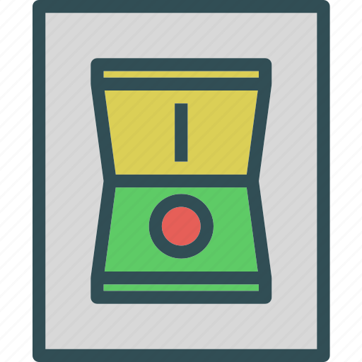 buttonser, light, off, on, press, switch icon