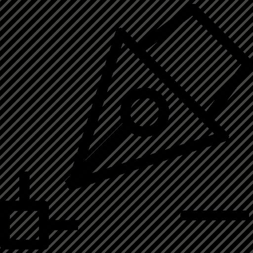 drag, edit, minus, point, reshape, scale, transform icon