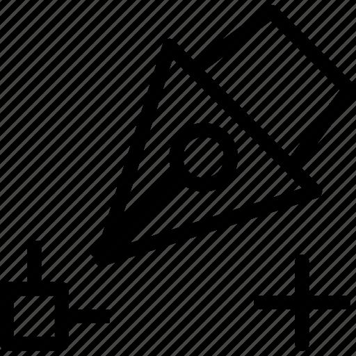 drag, edit, plus, point, reshape, scale, transform icon