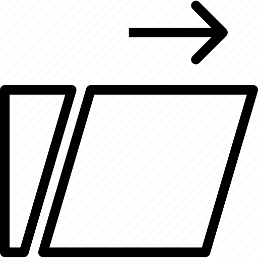 arrange, layers, reshape, right, scale, swipe, transform icon