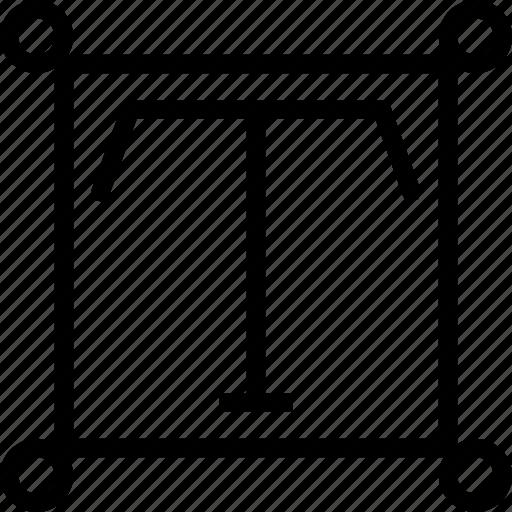 edit, reshape, scale, text, transform, write icon