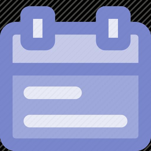 agenda, calender, color, interface, ui, ux icon