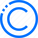 c, circle, copyrights, interface icon