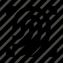 fingerprint, scan, scaner, zoom icon