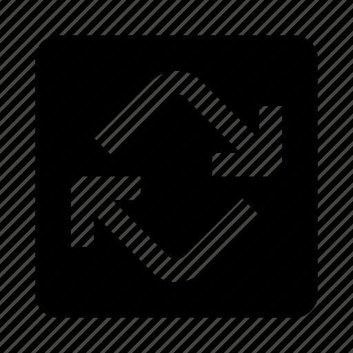 arrows, cycle, repeat, sync icon