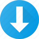arrow, down, navigate, ui icon