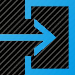 enter, interface, login, ui icon