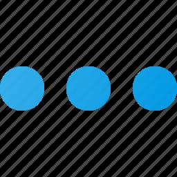 horizontal, interface, menu, ui, user icon