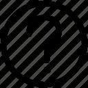 bottom, circle, interface, note, ui icon