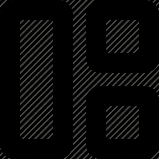 grid, icon, interface, layout, split, view icon
