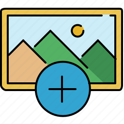 add, gallery, image, interface, new icon