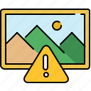 alert, gallery, image, interface, warning icon