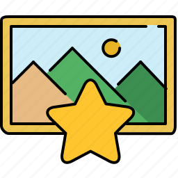 bookmark, image, interface, star icon