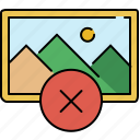 cancel, delete, gallery, image, interface icon