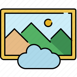 cloud, gallery, image, interface icon