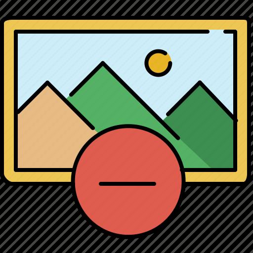 delete, gallery, image, interface, remove icon