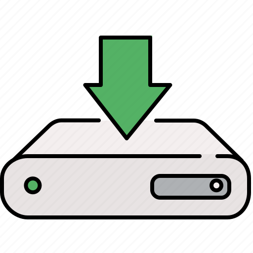 arrow, down, download, interface, server icon