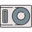 cd, dvd, interface, music, player icon