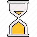 hourglass, interface, time, timer icon