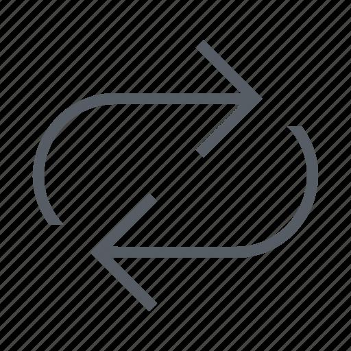 arrow, interface, repeat icon