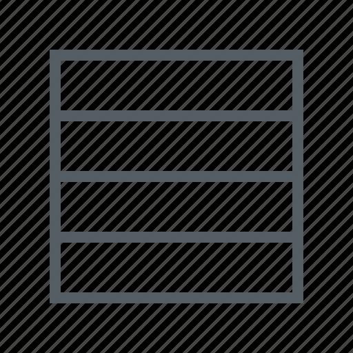 edit, interface, rows icon